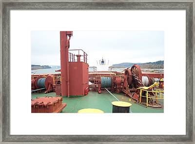 Merchant Vessel Deck Framed Print by Alan Espasandin
