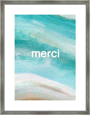 Merci- Art By Linda Woods Framed Print