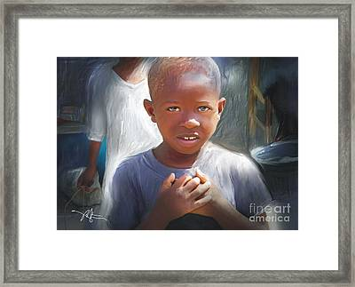 Merci  Thank You Framed Print
