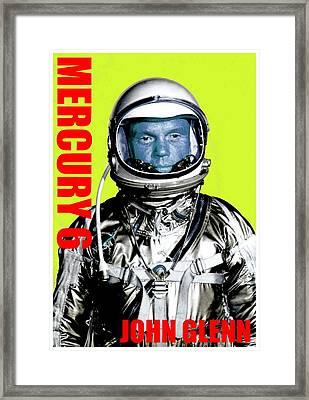 Mercury 6-john H Glenn Framed Print by Otis Porritt