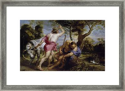 Mercury And Argus Framed Print by Peter Paul Rubens