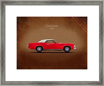 Mercury Cougar 1973 Framed Print by Mark Rogan