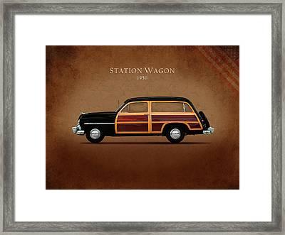 Mercury Station Wagon 1950 Framed Print