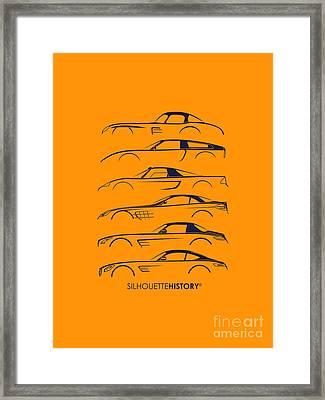 Mercy Sports Car Silhouettehistory Framed Print