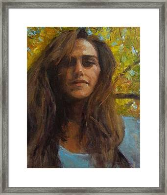 Meredith In Autumn Framed Print by Brian Kardell
