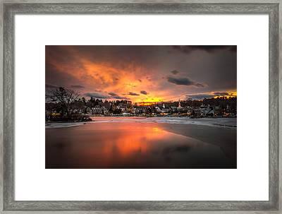 Meredith Sunset Framed Print