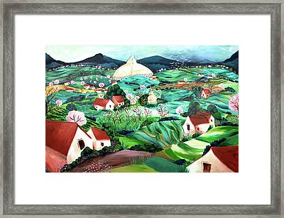 Meredith's Valley Framed Print by Tatjana Krizmanic