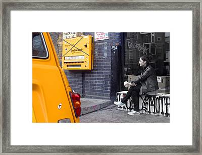 Merge Into Yellow Framed Print by Jez C Self
