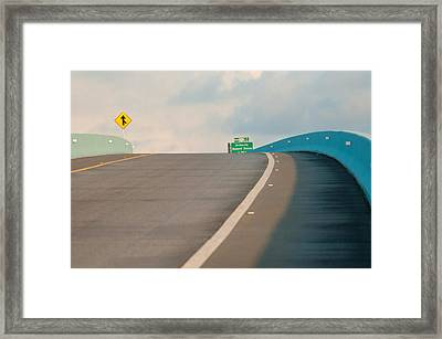Merge To The Clouds Framed Print