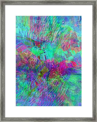 Framed Print featuring the digital art Merged 1 by Kate Word