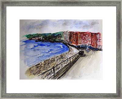 Mergelina Way Napoli Framed Print by Clyde J Kell