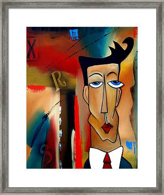 Merger - Abstract Art By Fidostudio Framed Print by Tom Fedro - Fidostudio