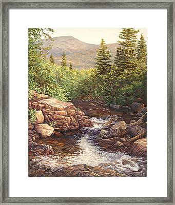 Crystal Cascade Falls, Pinkham Notch, Nh Framed Print by Elaine Farmer