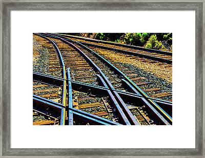 Merging Tracks Framed Print