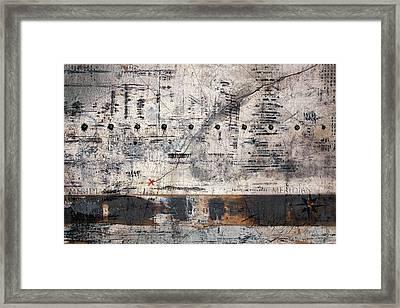 Meridian Map Framed Print by Carol Leigh