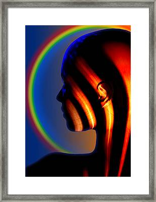 Framed Print featuring the digital art Meridian by Shadowlea Is