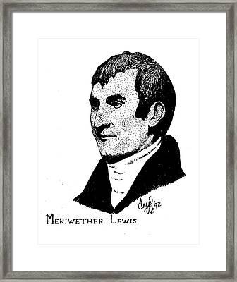 Meriwether Lewis Framed Print