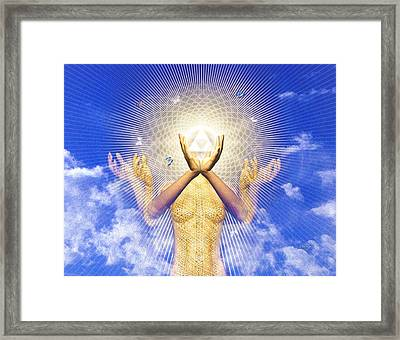 Framed Print featuring the painting Merkaba Awakening by Robby Donaghey