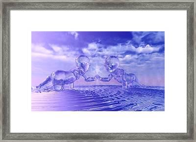 Merkaba Babies Framed Print