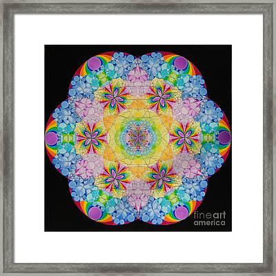 Merkaba Chakra 1 Framed Print by Nofirstname Aurora