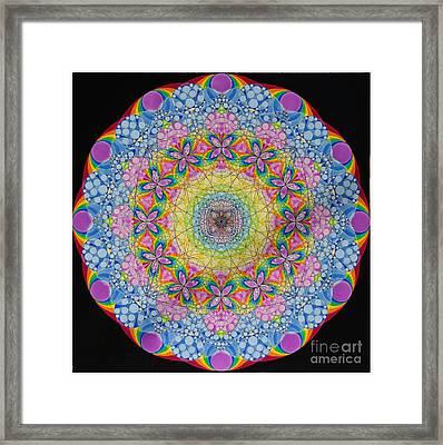 Merkaba Chakra 2 Framed Print by Nofirstname Aurora