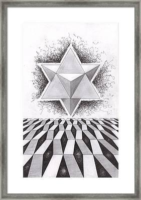Merkabah Study IIi Framed Print by Geoffroy Dextraze