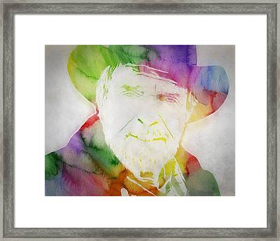 Merle Haggard Watercolor Framed Print by Dan Sproul