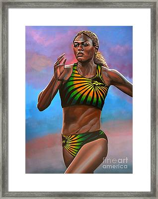 Merlene Ottey Framed Print by Paul Meijering