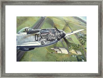 Merlin Magic Over Scone Framed Print