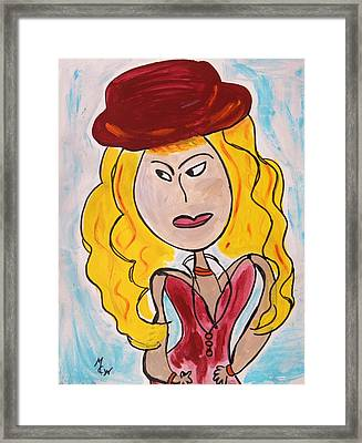 Merlot Hat Framed Print