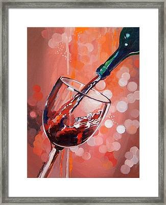 Merlot Madness Framed Print by Terry Cox Joseph