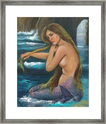 Merma Framed Print by Sally Seago