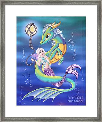 Mermaid And Sea Dragon Framed Print