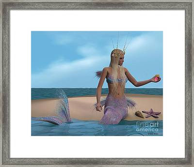 Mermaid And Seashells Framed Print