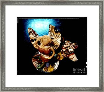Mermaid Angel With Trigger Framed Print by Kirk Wieland