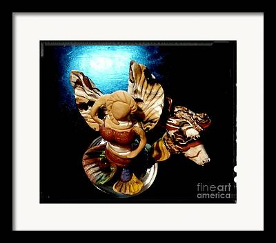 Angel Mermaids Ocean Mixed Media Framed Prints