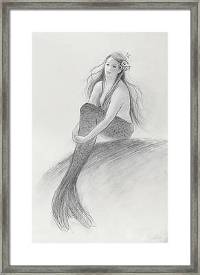 Mermaid Christina In The Sunshine Framed Print by Tina Obrien
