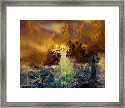 Framed Print featuring the painting Mermaid Enchantress by Steve Roberts