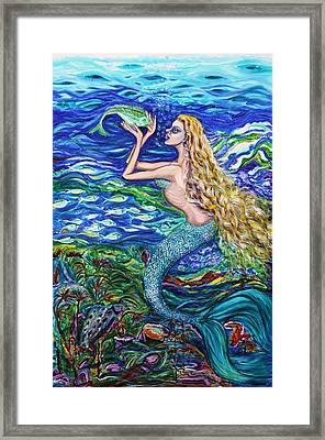 Mermaid Fishnet  Framed Print