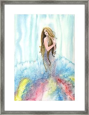 Mermaid In The Mist Framed Print