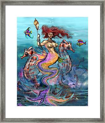 Framed Print featuring the painting Mermaid by Kevin Middleton