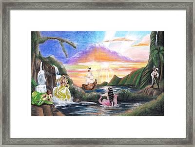 Mermaid Lagoon Framed Print by Scarlett Royal