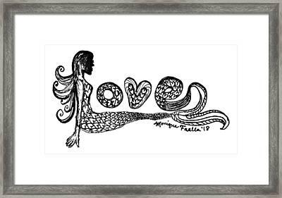 Mermaid Love Framed Print