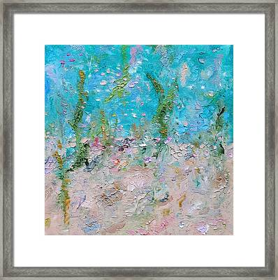 Framed Print featuring the painting Mermaid Meditation by Judith Rhue