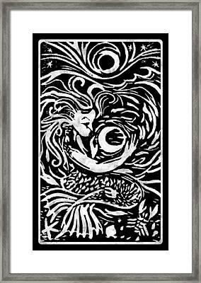 Mermaid Moon Framed Print by Katherine Nutt