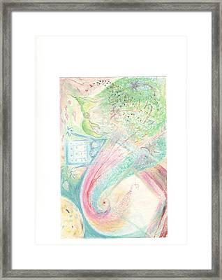 Mermaid On The Beach Ascending Framed Print by Rich Graham