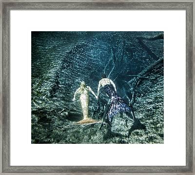 Mermaid Pair Framed Print