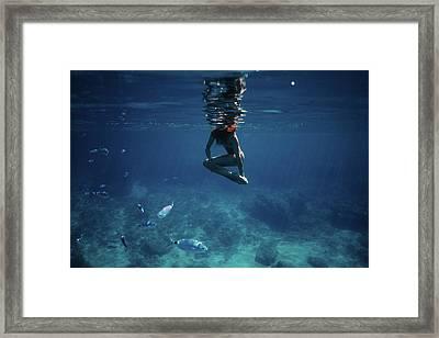 Mermaid Pose Framed Print