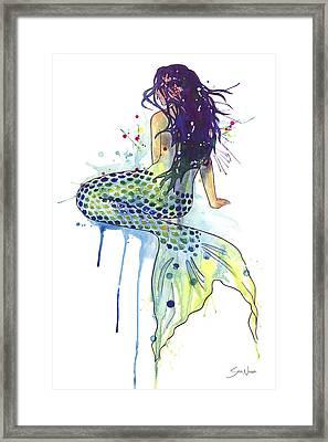 Mermaid Framed Print by Sam Nagel