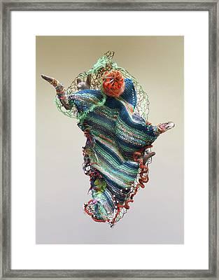 Mermaid Sculpture Framed Print
